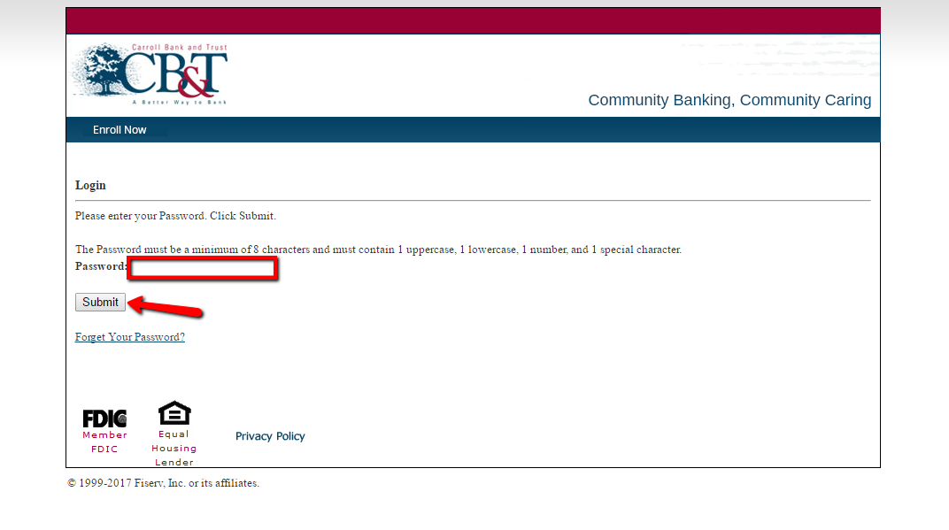 bank of commerce and trust login